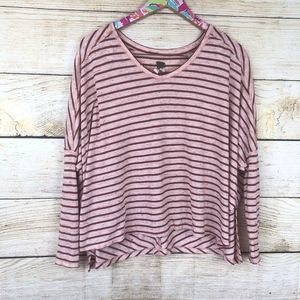 We The Free Tops - We the Free red striped batwing top size XS // C28